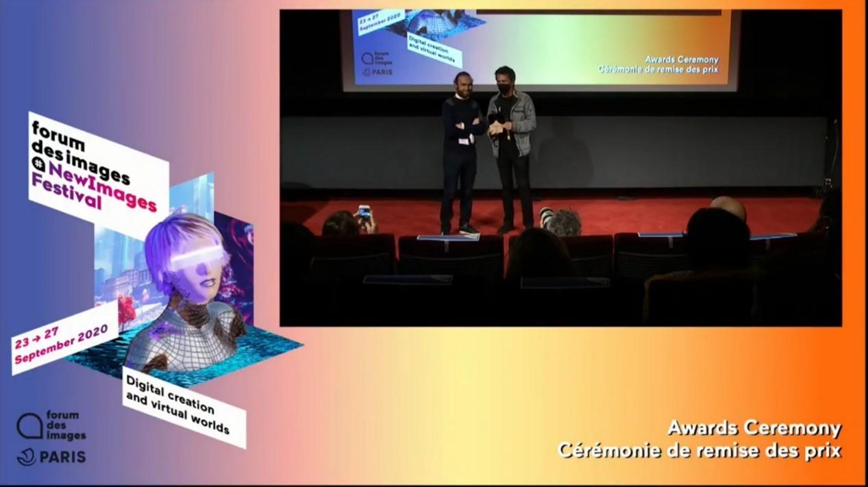 黃心健VR《失身記-2.0版》榮獲法國巴黎「NewImages」藝術節最高榮譽「金面具獎」