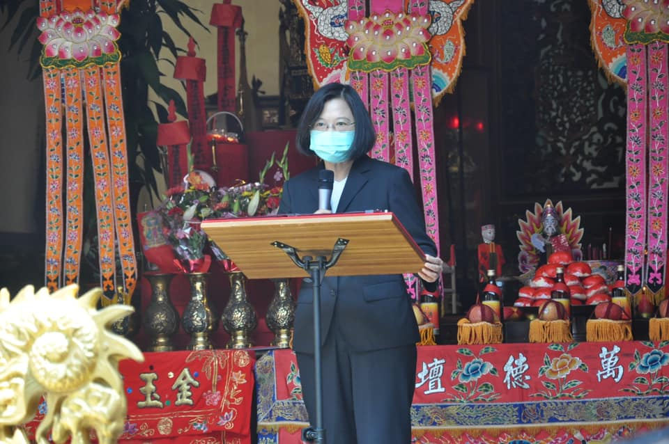 Read more about the article 新埔褒忠義民祭祀大典  客家妹蔡總統講客「做忠義个客家人」