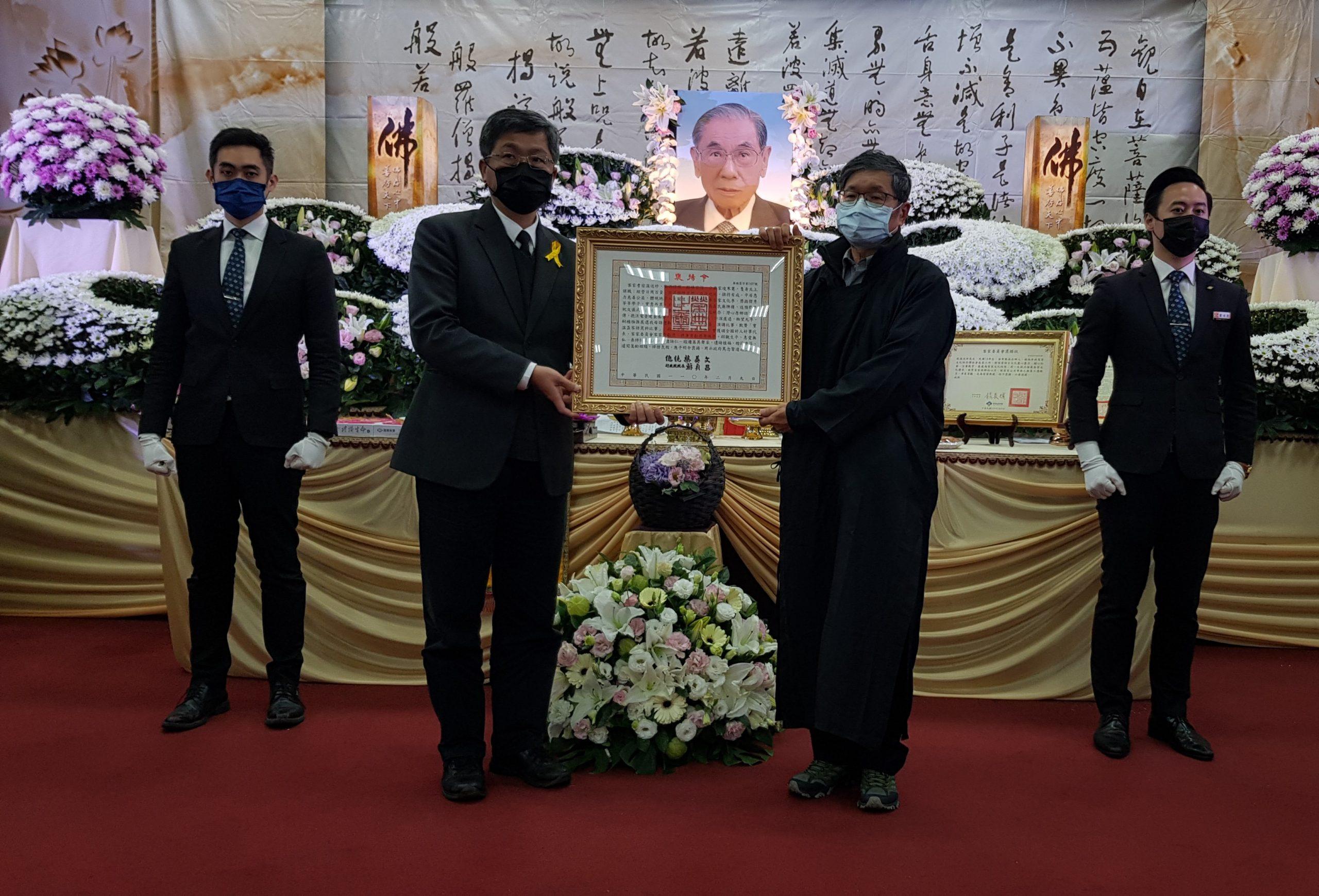 溫送珍推廣客家文化  楊長鎮代總統頒發褒揚令